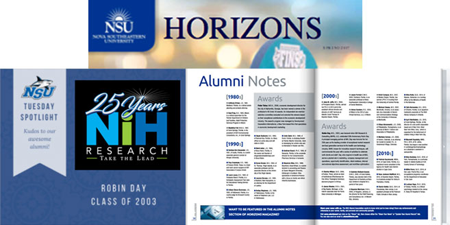 NIHR Principal Robin Day Featured in Nova Southeastern University Horizons Magazine