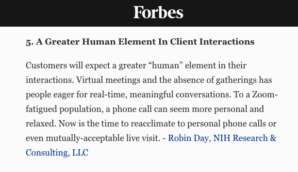 NIH Research & Consulting Robin Day Featured In Forbes